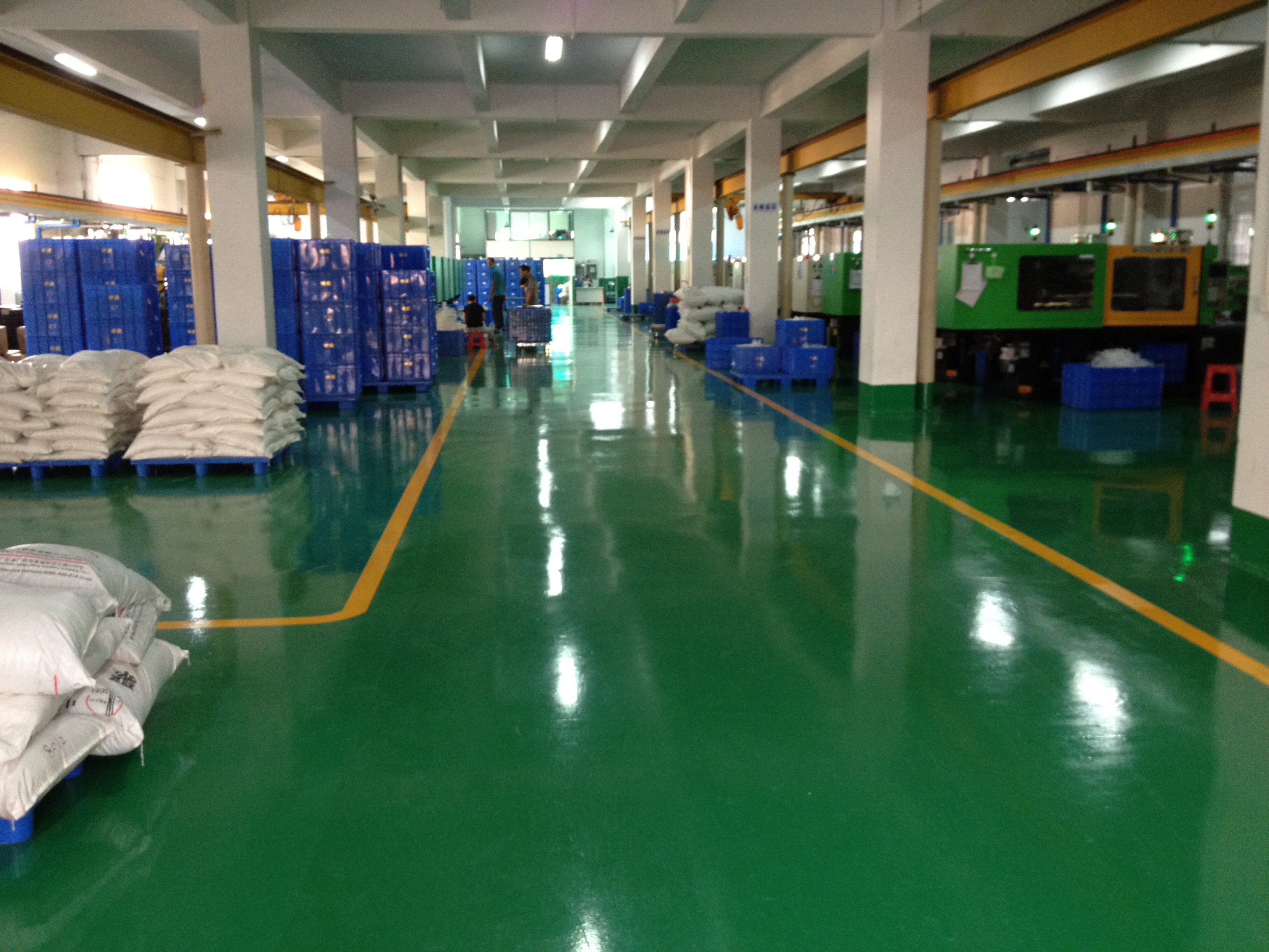 acrylic paint epoxy coating factory floor sportsurface