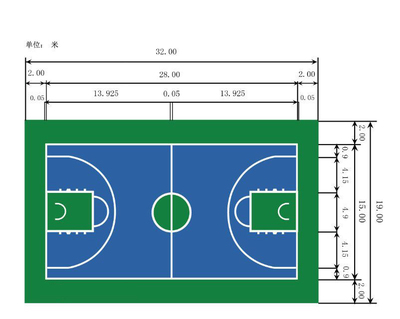 Outdoor paint Basketball Court