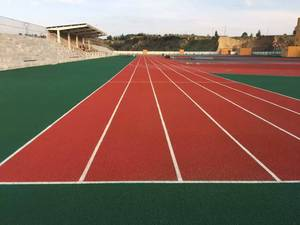 IAAF tartan rubber tracks in 6lanes