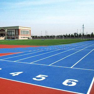 300m 6lanes athletic rubber running track