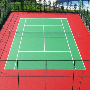 Outdoor acrylic tennis court by ITF