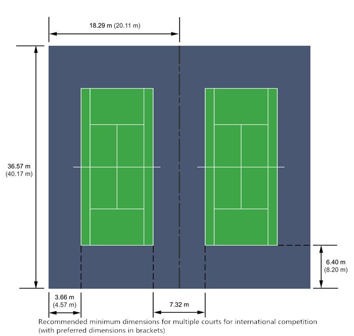Tennis court site plan
