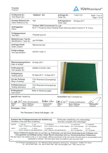 Surfacing Material Report – ASTM F1292