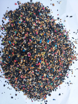 colorful recycled granule