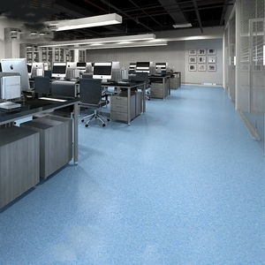 Anti-Noise Commercial Area PVC Click Flooring Vinly Plank Floor