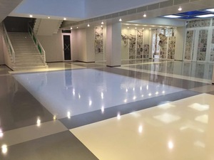 Self-leveling Colored Dot Epoxy floor